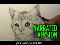How to Draw a Kitten: Narrated Step by Step - YouTube cats, narrat step, mark crilley, tutori draw, art drawings, draw anim, kittens, cat draw, youtub