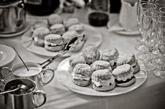 Gougane Barra Hotel's Homebaked Scones with local Folláin Jam and whipped cream waiting for you after your wedding #vintage