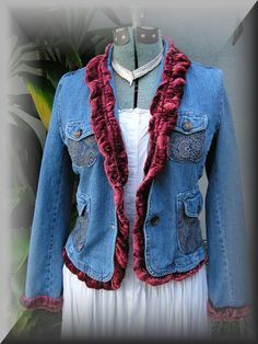 altered blue jean jacket