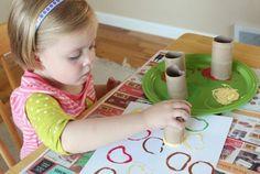 #DIY #manualidades con niños: Pintando manzanas