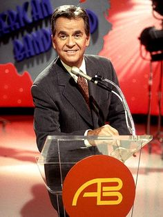 Dick Clark      Iconic TV host and producer, who left an indelible mark on the entertainment world by way of American Bandstand and his annual Dick Clark's New Year's Rockin' Eve (just to name a few), died of a massive heart attack. America's oldest teenager was 82  DICK CLARK photo   Dick Clark
