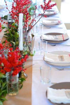 Bring the outdoors in for a beautiful tablescape