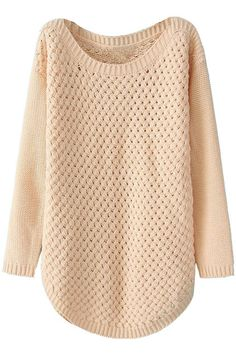 Simple Design Pink Jumper by Romwe