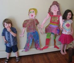 kindergarten self portrait, preschool self portrait, life size, self portraits, wccc activ, full size, kid craft