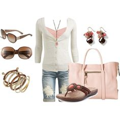 Pink and Brown, created by kurlzrock on Polyvore