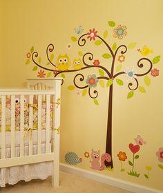 Whimsical Wall Tree Decal