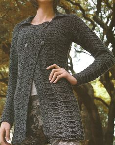 Patrones de Tejido Gratis: Chaqueta crochet  -yes it's in spanish   -inspiration