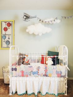 Airplane and banner...so cute for a boy's room