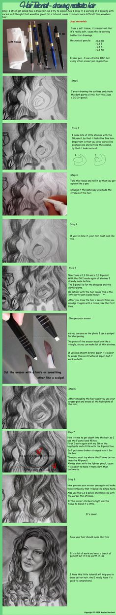 drawing tutorials, drawings, realist hair, hair tutorials, drawing tutorial hair, art tips, drawing realistic hair, how to draw hair tutorial, drawing hair tutorial
