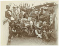 """""""Crossing the Line"""" group in their fancy dress. ca. 1920-1950. State Library of New South Wales via Flickr."""