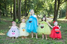 Elmo Cookie Monster Sesame Street Inspired Costume Tutu Dress for Birthday Parties, Dress up and more❤️