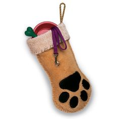 Dog Paw Stocking. Christmas is no time soon, but I'll put it on my to-do list this year for Codex. She won't care, but it will still be cute. :D