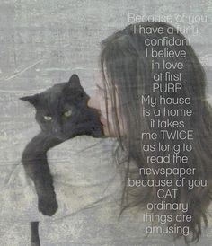 Funny Quotes About Cat Lovers : Cat Love Quotes Cat quote of love.