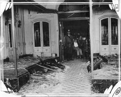 Shown here, a dry goods store at 7303 S. Halsted Street owned by Benjamin Wolfe is destroyed by a bomb. Wolfe maintained that he was the victim of a labor conflict. iChi-51224. #chicago #history #crime #laborconflict