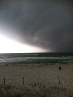Storm moving in on 6-10-12 on the West End of PCB