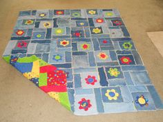 denim patchwork quilt
