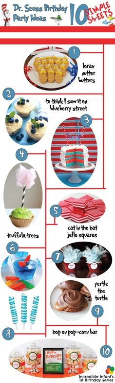 Dr. Seuss Birthday Party Ideas - Sweets http://www.incredibleinfant.com