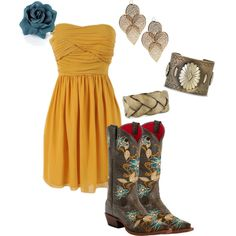 polyvor, fashion, boot, countri sass, cloth, dress, closet, casual wardrob, country outfits
