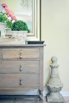 love the finish on this dresser re-do
