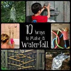 10 fun ways to play with water and learn about hydrodynamics. 10 Ways to Make a Waterfall from Left Brain Craft Brain.