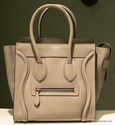 Celine Mini Luggage Tote in Dune w Drummed Leather. Love!