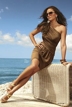 Love this cute brown dress from Boston Proper.