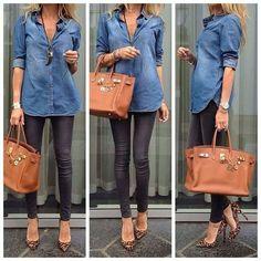 #denim #shirt #simple