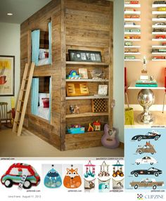 What fun idea for a little boy's room OUT OF PALLETS