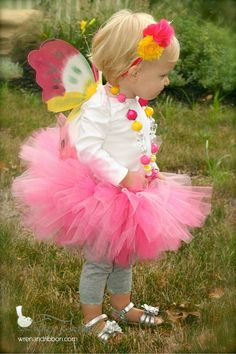 "Halloween Costume - ""Tutu Cute"" Butterfly - Girl Toddler Baby Infant Newborn Halloween Costume on Etsy, $58.00"