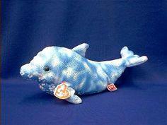 dolphin stuffed animal plush TY docks