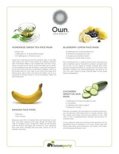 Own. Face Mask Recipe