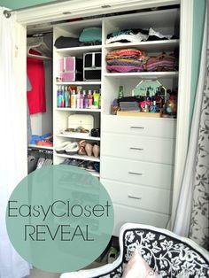 small reach in closet makeover - easy closets @cleverlyinspired (7)
