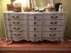 Cottage Painted Shabby Chic Long and Low French by TessHome, $950.00
