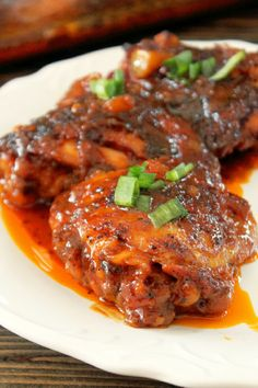 Roasted Chicken with a Sweet and Spicy Tamarind Ginger Glaze