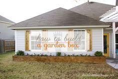 how to build a garden box | the handmade home