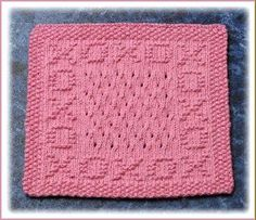 X's and O's Free Knit Dishcloth Pattern