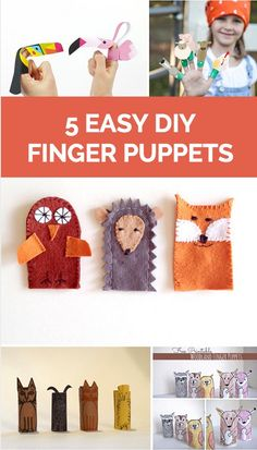 Kids will love these easy and playful ways to make finger puppets!