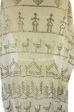 Love the ducks!   This is definately a coptic wedding shawl - note the row of churches and the aroosh/bride figures!  Ouch the price!  1920s Assuit Scarf with Figures & Trees