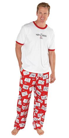 The New Yorker® Romance Cartoon Pajamas for Men from PajamaGram. $59.99 #Pajamas #Men #NewYorker