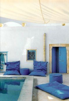 #terrasse #piscine #bleu marocain
