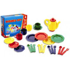 Toy Dishes Set - Walmart.com $12.99 - play kitchen toys