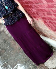5 maxi skirt tutorials #DIY #sew