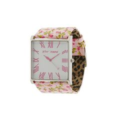 Betsey Johnson - BJ2104 (Pink Patent Leather Strap/Silver Case/White Dial) - Jewelry ($95) found on Polyvore