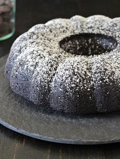 """Vegan chocolate espresso vegan bundt cake. Previous Pinner said one """"could also do this with strongly brewed black tea, earl grey, or chai."""""""