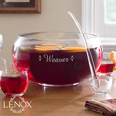"""A & D"" Personalized Punch Bowl Set - Family Celebration - 12111"