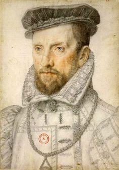 atelier de CLOUET François - French (Tours circa 1515-1572 Paris) -  Portrait of Admiral Gaspard II de Coligny,  Seigneur de Châtillon, c. 1560