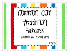 These flashcards are great to use to help your students fluently add within 5.  I like to use these at the beginning of my math lesson, while stude...