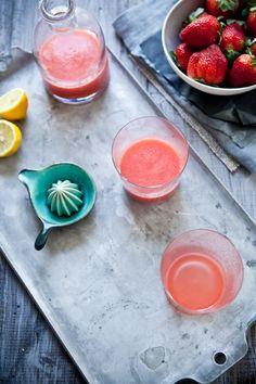 Rhubarb & Strawberry Lemonade