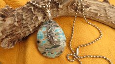 Mens Jewelry  Camo Druzy Flying Eagle  'As Eagles by JewelActs