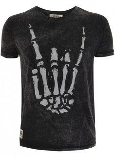 Rock On T-Shirt - Charcoal Stone Wash